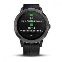 Спортивные часы Garmin Vivoactive 3 черные с черным ремешком, фото 3