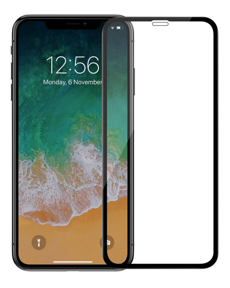 Защитное стекло Full screen PowerPlant для Apple iPhone XR, Black