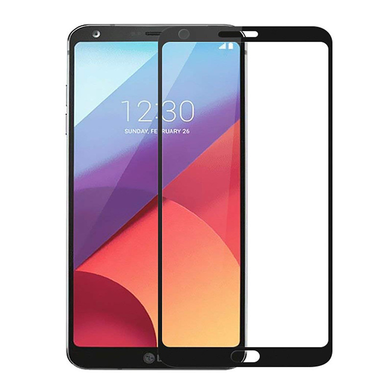 Защитное стекло Full screen PowerPlant для LG G6 Black