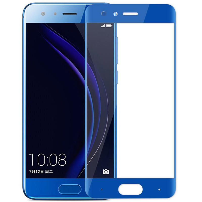 Защитное стекло Full screen PowerPlant для Huawei Honor 9 Blue