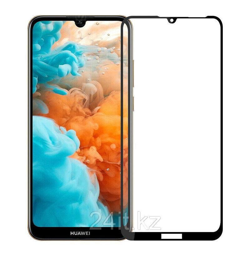 Защитное стекло Full screen PowerPlant для Huawei Y6 (2019), Black