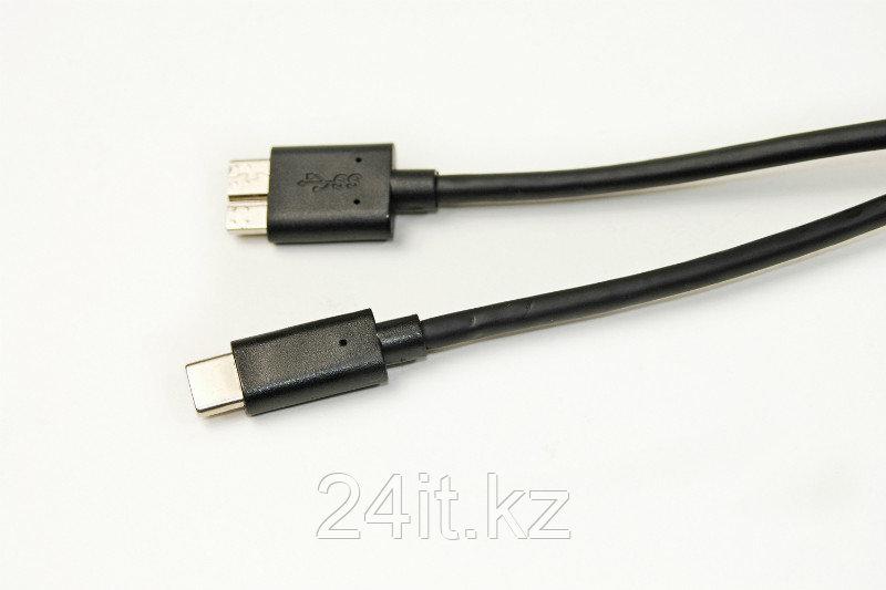 Кабель PowerPlant USB Type C - USB 3.0 High Speed Micro, 1.5 м