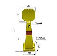 Конус дорожный со светоотражающей лентой  92 см