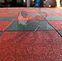 Плитка резиновая 50 х 50 см., толщ. 3 см.