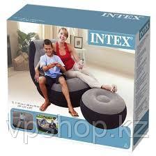 Надувное кресло 99Х130Х76СМ с пуфиком 64Х28СМ, INTEX 68564