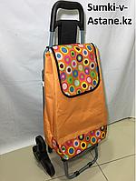 Хозяйственная сумка на колесах, со складным стулом. Высота 95 см, длина 42 см, ширина 49 см., фото 1