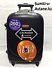 Маленький пластиковый дорожный чемодан на 4-х колесах Ambassador.Высота 56 см длина 34 см ширина 24 см.Вес:3.5