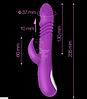 """Силиконовый вибратор с ротацией """"Ella Vibrating Rod"""", L 23.5 см D 3.5 см, фото 3"""