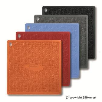 Прихватка Silikomart 175х175 мм. силикон, черная, ACC 074, 70.198.20.0001