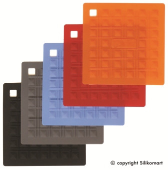 Прихватка Silikomart 175х175 мм. силикон, красная, ACC 071, 70.199.05.0001