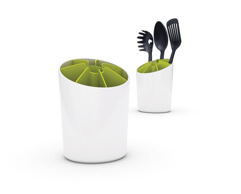 Подставка для кухонных принадлежностей Joseph Joseph Segment™, белая/зеленая (85031)