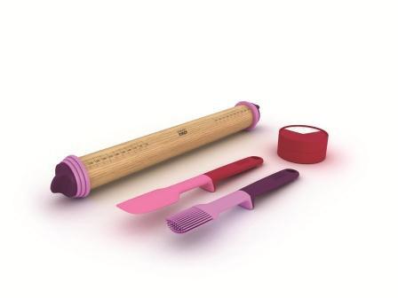 Набор подарочный из 4-х предметов (скалка, кисточка,таймер, лопатка) Joseph Joseph 98150
