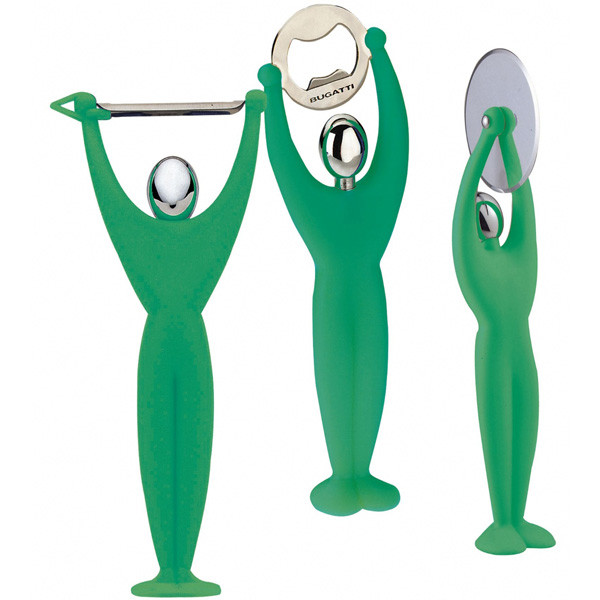 Набор кухонных инструментов 3  пр. Gym Green Apple, зеленый, Casa Bugatti 32-7089/ACMU