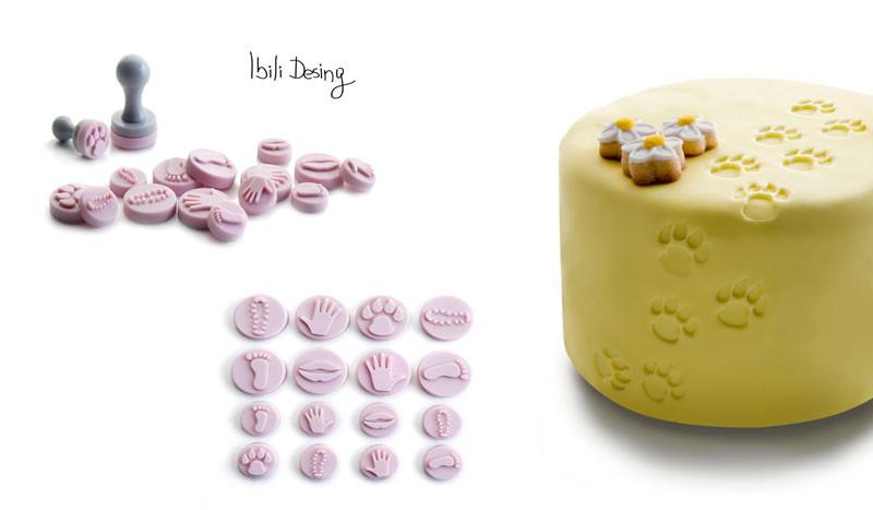 Набор мини печатей для мастики 2,5+1,5 см Ibili Испания 789600