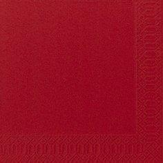 Салфетки 33х33см, 2 сл., Красный, Бумага, 125 шт