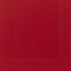 Салфетки 33х33см, 2 сл., Красный, Бумага, 125 шт, фото 2