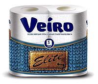 Бумага туалетная 3сл. 4шт. VEIRO Elite , 4 шт