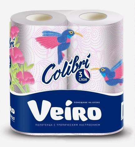 Полотенца бумажные 3 сл. 2 рул. VEIRO Colibri , 2 шт, фото 2