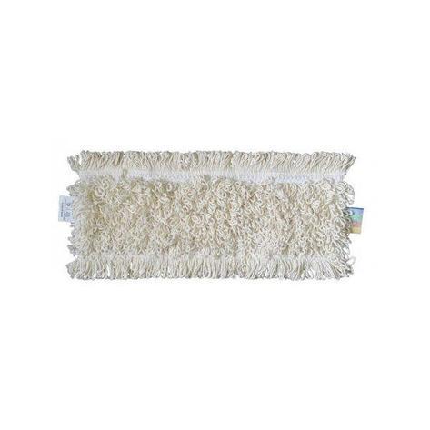 МОП плоский 40х14см хлопок карман, белый, фото 2