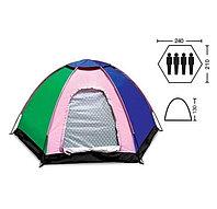 Палатка туристическая четырехместная SY-009 (2,4х2,1х1,3м)