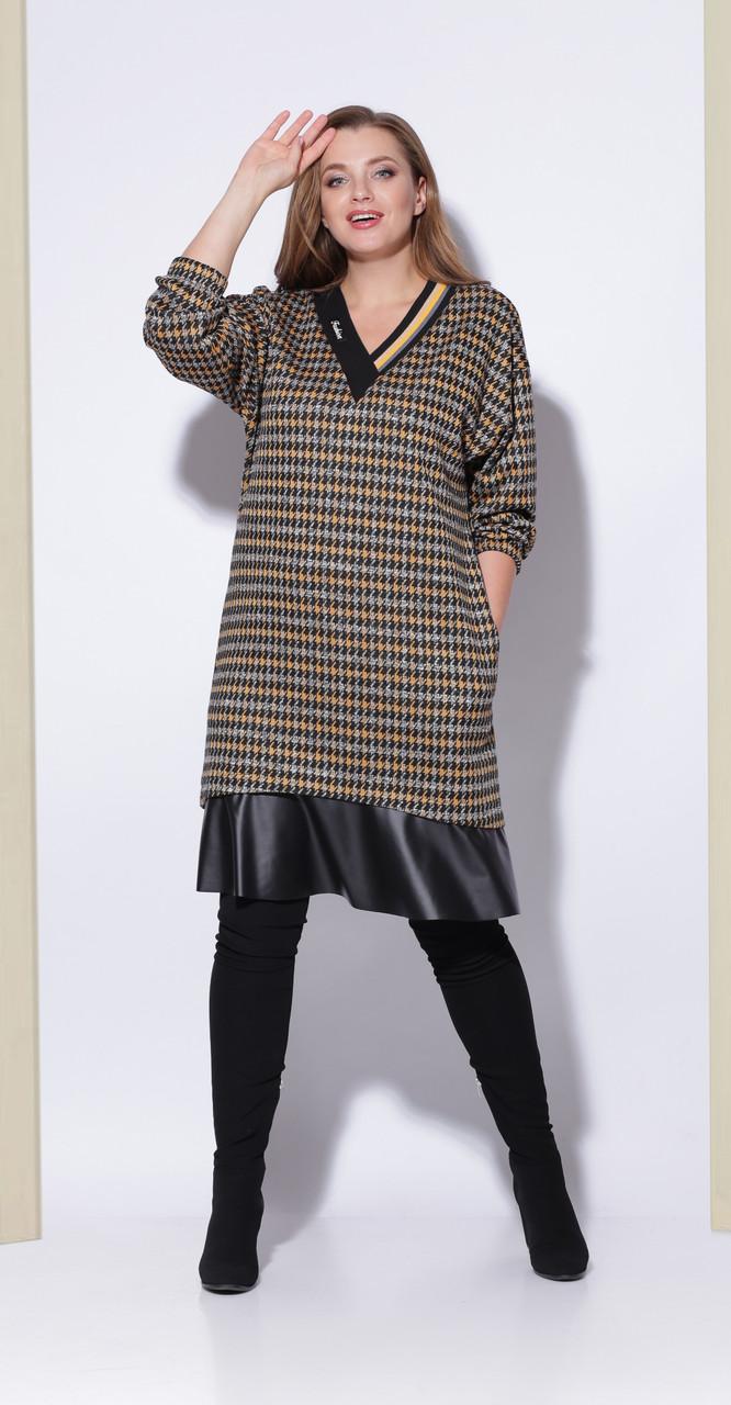 Платье КаринаДелюкс-В-217, гусиная лапка, 50