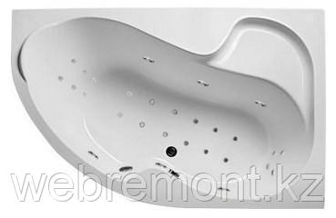 Акриловая гидромассажная ванна Аура 150х105х63 см.(Общий массаж, спина, ноги, дно), фото 2