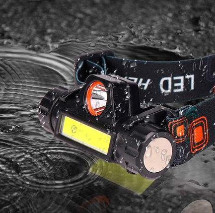 Фонарь налобный светодиодный с магнитом HIGH POWER HEADLAMP YT-872 [2 источника света], фото 2