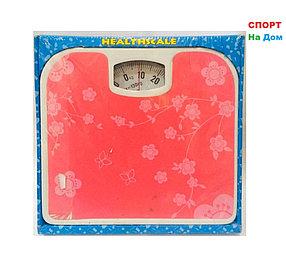 Весы напольные механические Health Scale (цвет розовый с цветами)