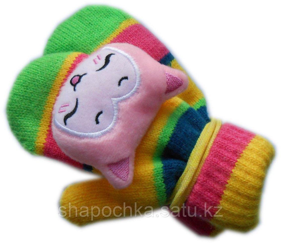 Варежки детс. дев игрушки веревки