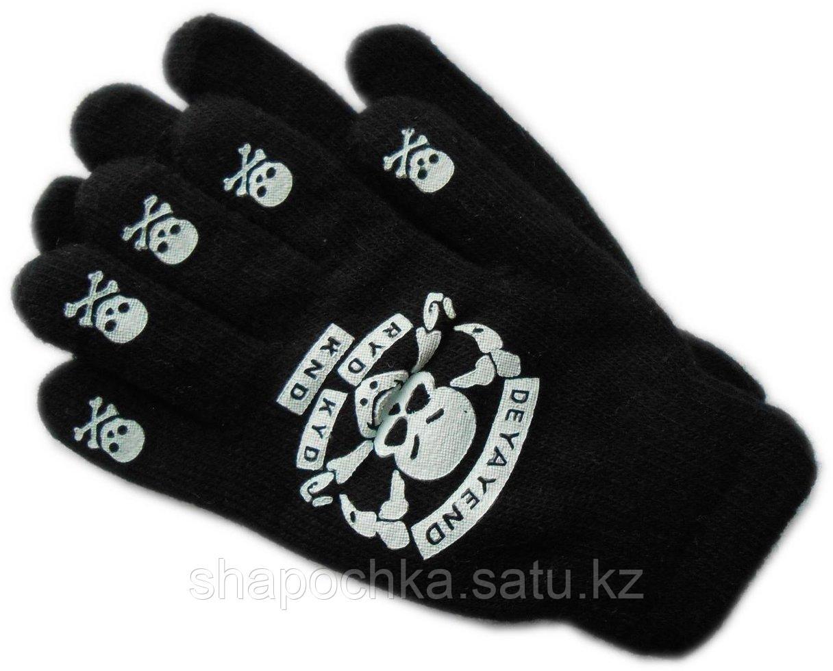 Перчатки  Лина черн. рисунок