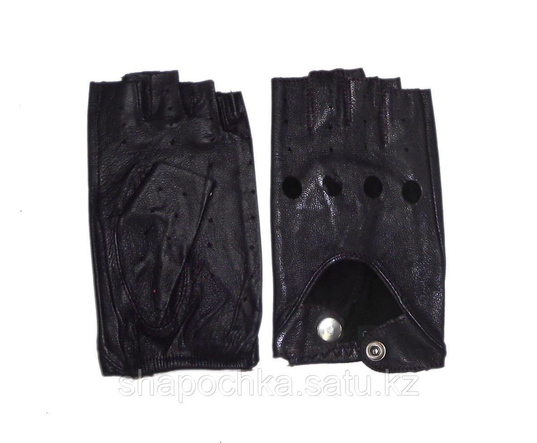 Перчатки жен. без пальцев кожа
