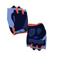 Перчатки спорт эласт без пальцев цветная полоса