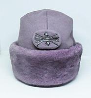 Шапка Nazarkov, s Furs норка + драп лопатка