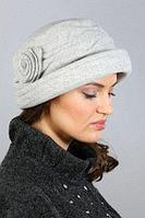 Шляпа+шарф LORICCI велюр мальва