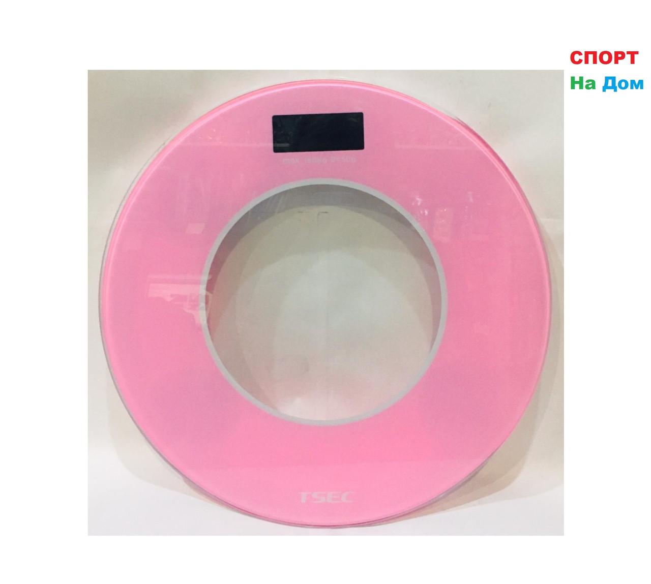 Весы напольные электронные Aote (цвет розовый)