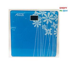 Весы напольные электронные Aote (цвет синий)