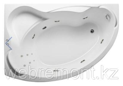 Акриловая гидромассажная ванна Катанья 150х105х63 см.(Общий массаж, спина), фото 2