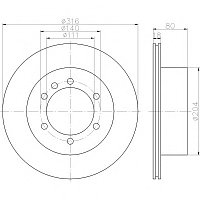 Тормозные диски  Nissan Patrol Y60 Y61 (87-98 , задние, 2.8л,4.2л,  Optimal), фото 1