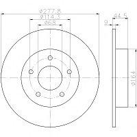 Тормозные диски  Nissan Maxima, Cefiro  (94-03, задние, TRW)