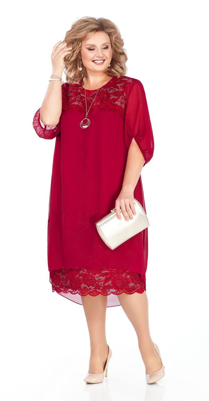 Платье Pretty-917, бордо, 56