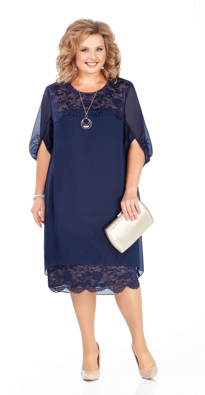 Платье Pretty-917/1, темно-синий, 58