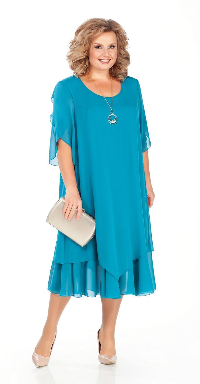 Платье Pretty-942, бирюза, 56