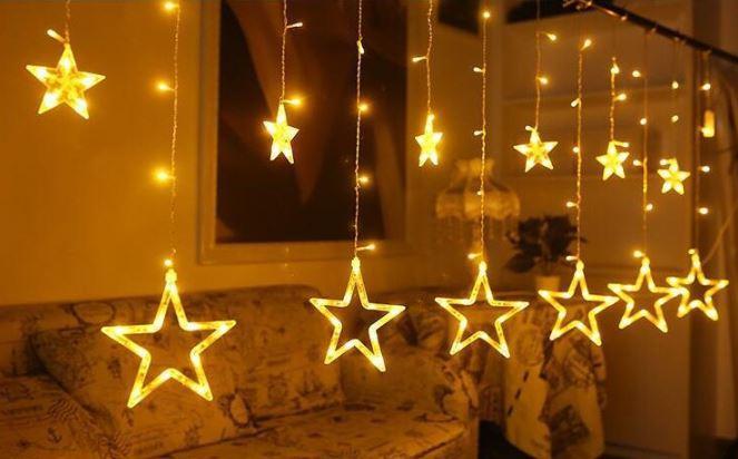 """Новогодняя гирлянда""""Звезды"""", цвет желтый"""