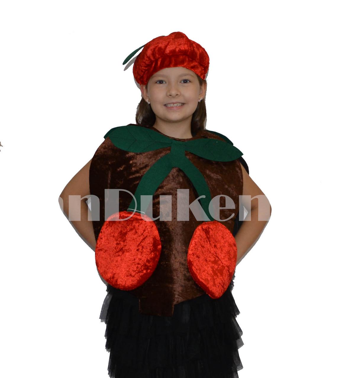 Карнавальный костюм детский овощи и фрукты вишня - фото 2