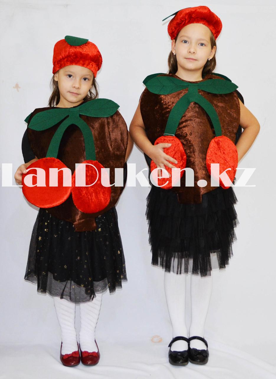 Карнавальный костюм детский овощи и фрукты вишня - фото 1
