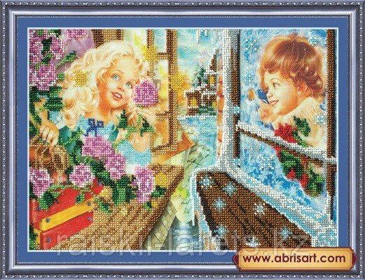 """Набор для вышивания бисером """"Кай и Герда"""" АВ-063"""