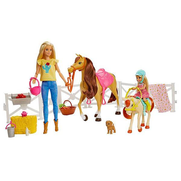 Mattel Barbie  Барби Кукла Челси и любимые лошадки