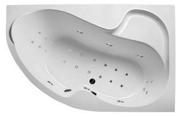 Акриловая гидромассажная ванна Аура 160х105х63 см.(Общий массаж,спина, ноги, дно)