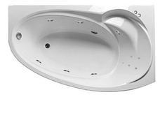 Акриловая гидромассажная ванна Джуллиана 160х95х65 см.(Общий массаж, спина)
