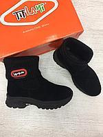 Осенние ботиночки TIFLANI на микрофлисе для девочек